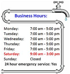 MPM Plumbing Business Hours