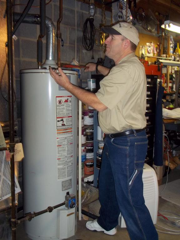 MPM Plumbing at work - Water Heater
